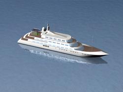Réalisation 3D d'un simulateur de golf sur un bateau de croisière